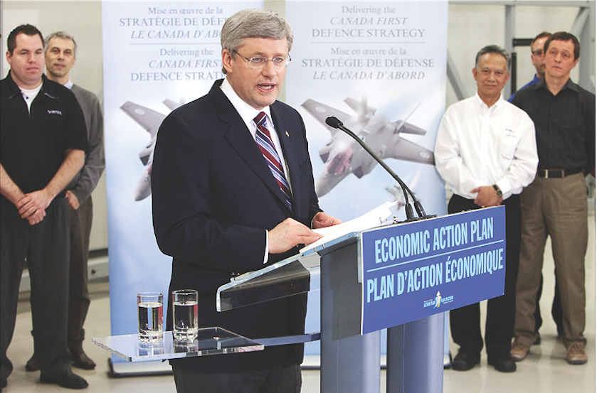 Released in May 2008, the Canada First Defence Strategy is the Harper government's comprehensive plan to ensure the Canadian Armed Forces will have the people, equipment, and support they need to meet the nation's long-term domestic and international security challenges. (  jason ransom  ,   government of canada  )