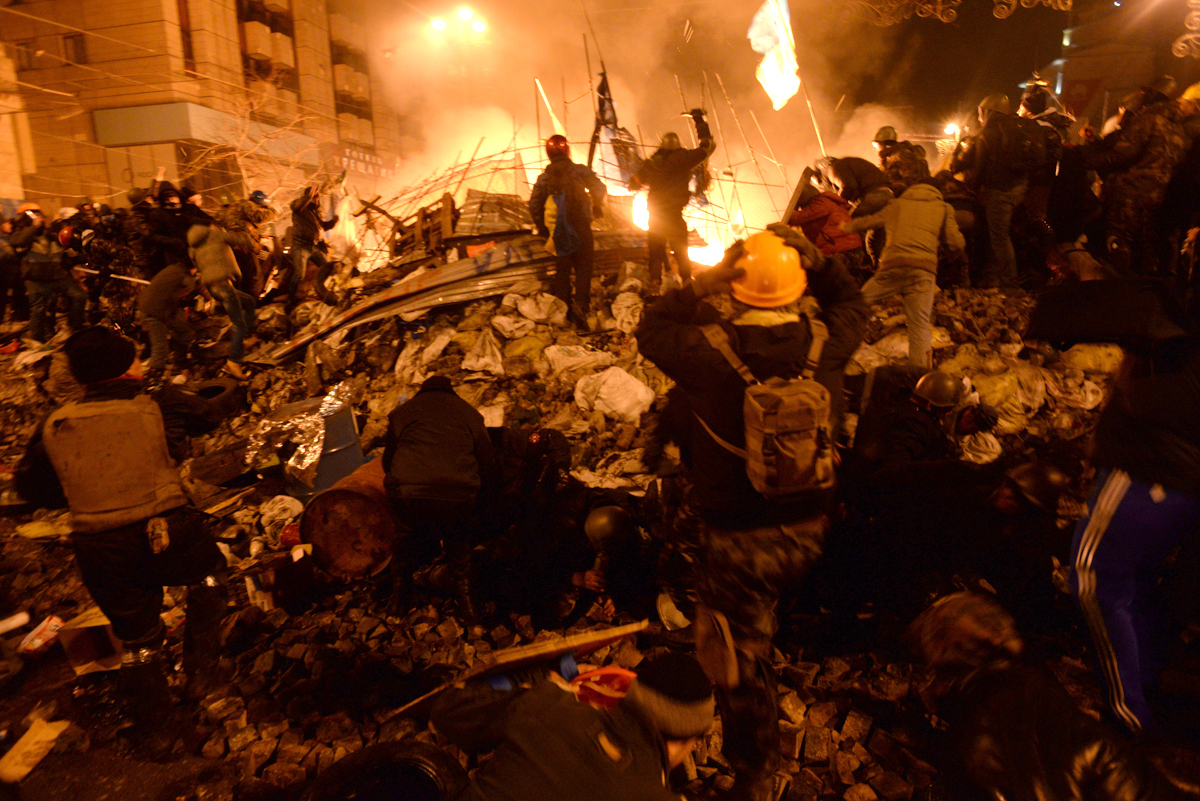 Violent clashes between civilians and government forces in Kyiv, Ukraine on February 18, 2014 — known as the Maidan Revolution — resulted in the ouster of Ukrainian President Viktor Yanukovych. In its aftermath, the ethnic Russian population in the Crimean region held protests and eventually a referendum to secede from Ukraine.