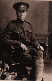 Portrait of Private Francis Bathe, who served with the 116th Battalion, Canadian Expeditionary Force, along with two of his four brothers, Herbert and William. He was wounded during the Vimy Ridge offensive and struck off the strength of the 116th on April 12, 1917. (image courtesy of the bathe family, the memory project, historica canada)