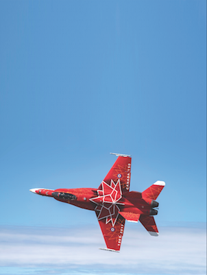 "Presenting CF188734, the Royal Canadian Air Force's 2017 season CF-188 Demonstration Jet in celebration of Canada's 150th anniversary of confederation. The Hornet was flown over northern Alberta by Captain Matthew ""Glib"" Kutryk, the 2017 Demonstration Jet pilot from 425 Tactical Fighter Squadron, Bagotville, Quebecon April 6, 2017 over 4 Wing, Cold Lake, Alberta. (Cpl Manuela Berger, 4 Wing Imaging)"