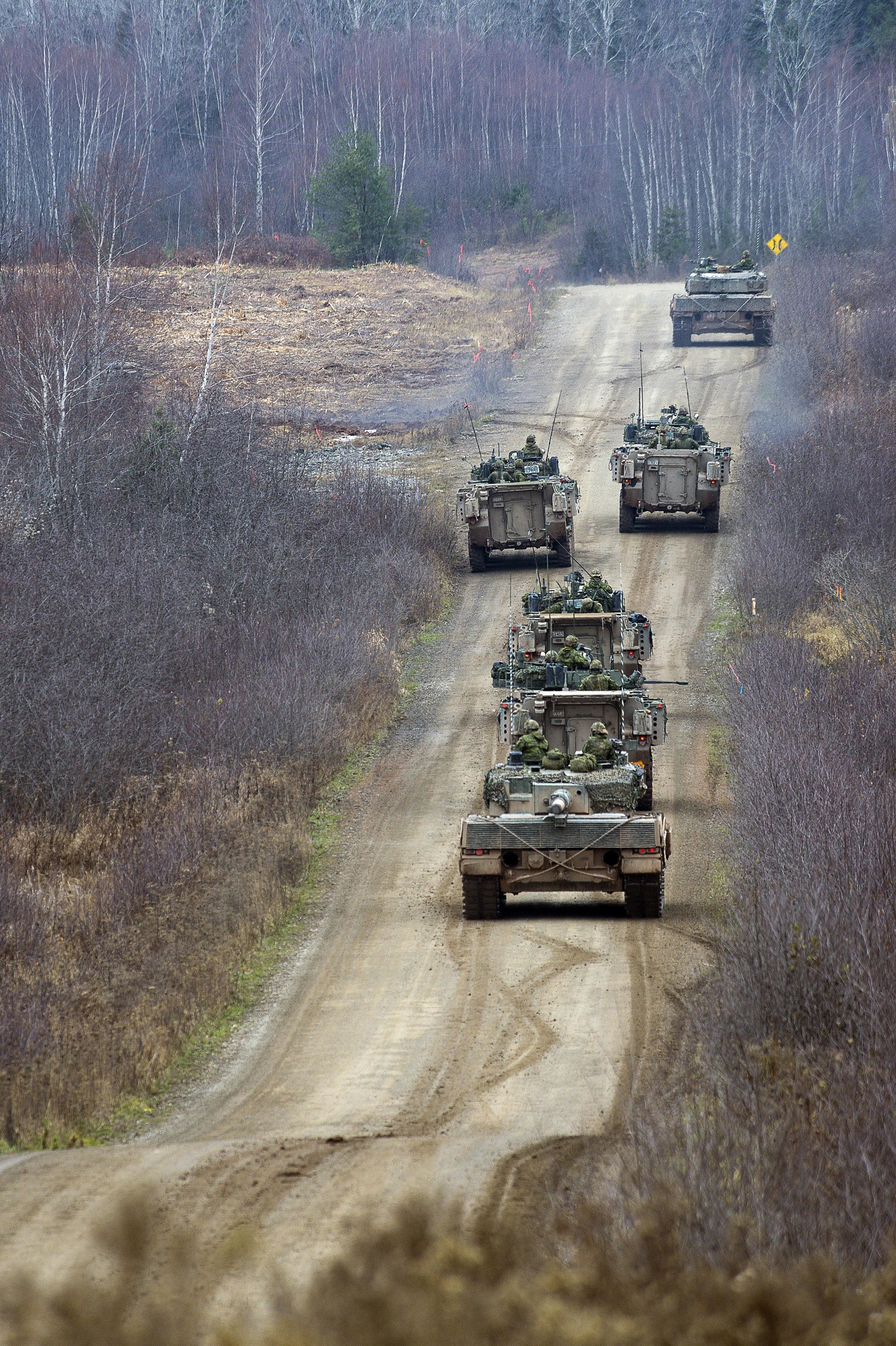 "Canadian Army soldiers participated in Exercise COMMON GROUND II 2016 at 5th Canadian Division Support Group Gagetown, November 15, 2016. In a May 3 presentation, Defence Minister Harjit Sajjan stated that the Liberals have ""a plan to allocate realistic funding to those 'bread and butter' projects that will keep our military running efficiently and effectively for years to come."" Among the projects mentioned were engineering and logistical vehicles for the army. (Cpl Peter Ford, Tactics School, Gagetown)"