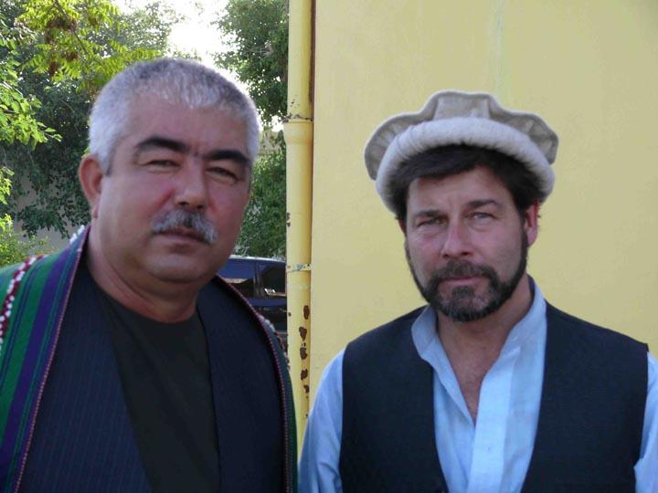 Publisher Scott Taylor and General Abdul Rashid Dostum