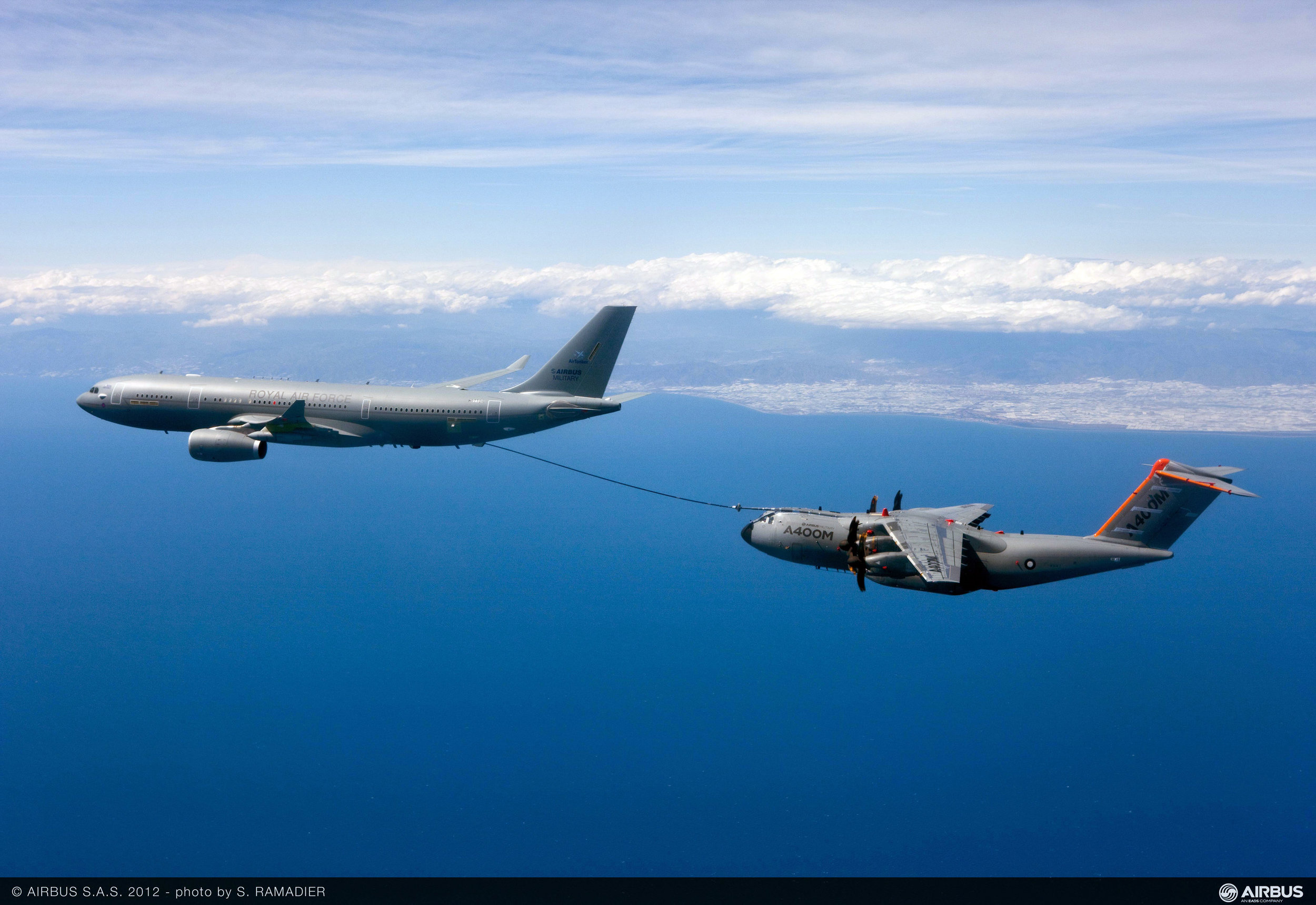 The Airbus A330 Multi-Role Tanker Transport (MRTT) aircraft can be configured for military air transport in addition to providing air-to-air refuelling capabilities. (s. ramadier, airbus)