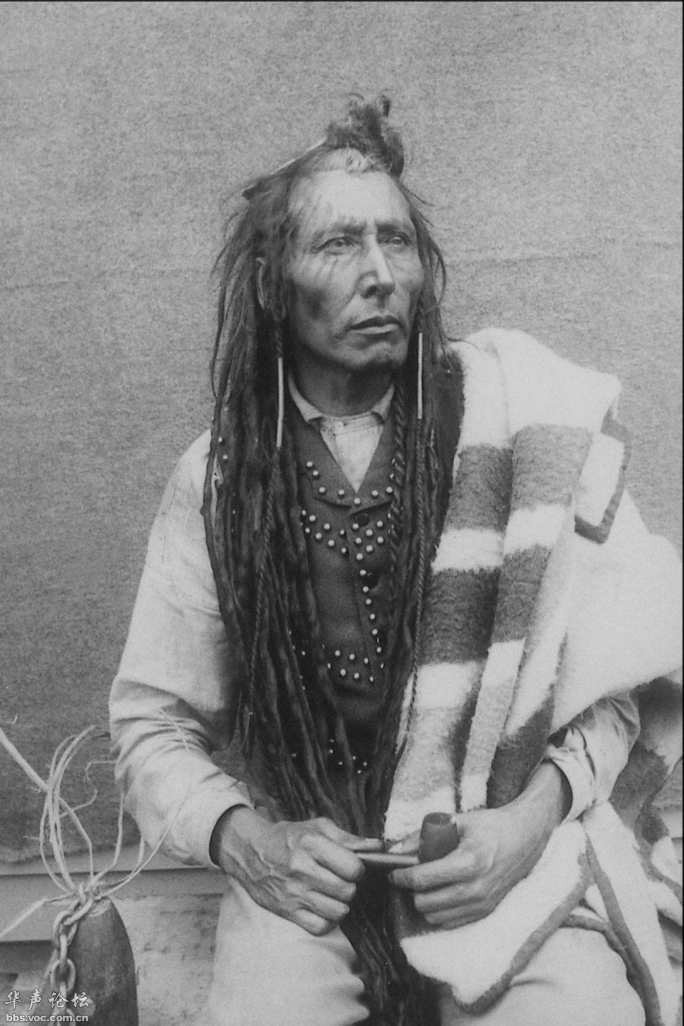 Poundmaker, also known as The Drummer, was a Cree chief, later adopted by Crowfoot of the Blackfoot Nation. Although imprisoned for treason, Poundmaker insisted that he had only wanted justice for his people. (library and archives canada, c-  001875  )