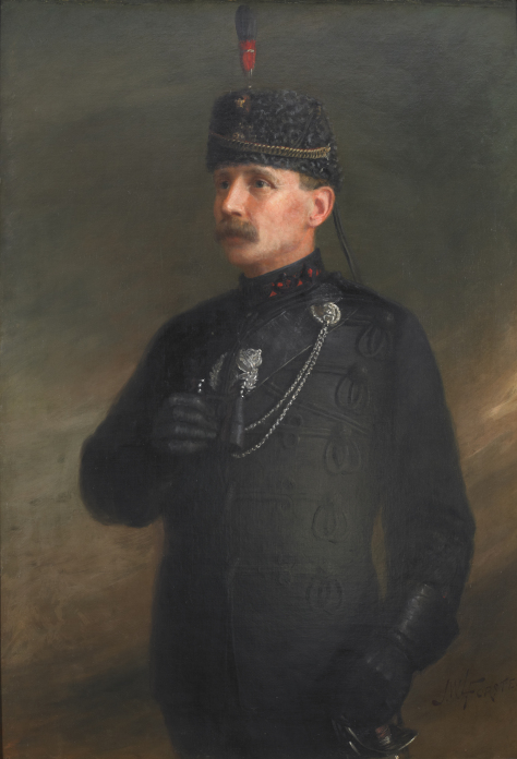A painting of General Sir William Otter, third commanding officer of the QOR (1875-1883) and one of its Honorary Colonels (1915-1929). The original painting, by Canadian portrait artist John Wycliffe Lowes Forster, still hangs in the 2 QOR officer's mess.