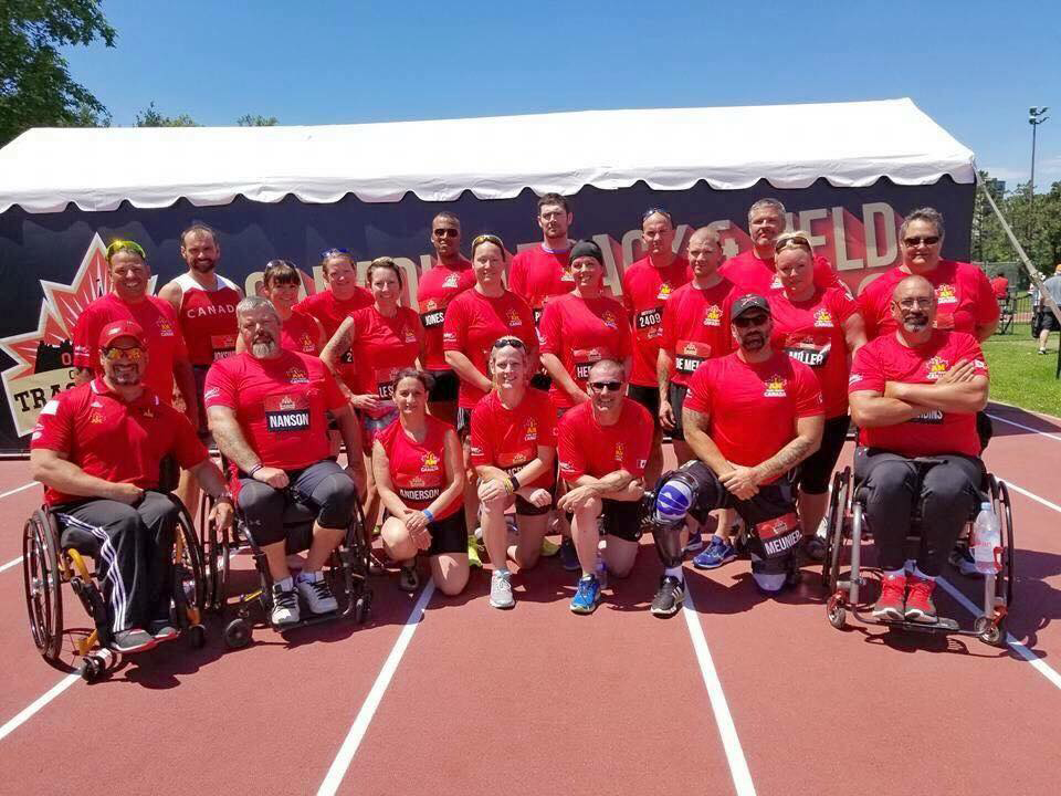 : In order for the participants of Team Canada 2017 to get a feel of what competing in the upcoming Games would be like — with crowds, spectators, and stress! — Natacha Dupuis organized the Invictus Project Team. Members of the current and previous Teams Canada were invited to participate in the Canadian Track and Field Championships, which were held in Ottawa in early July.