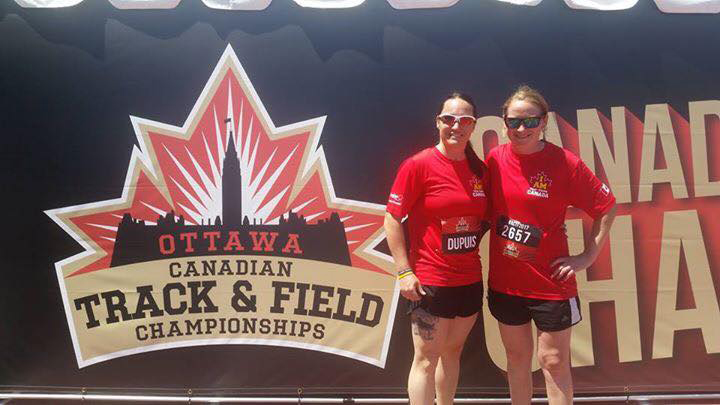 Natacha Dupuis (left) not only competed in the track and field events but also looked after coordinating flights, hotels and other logistics for the Invictus Project Team, giving her added confidence.