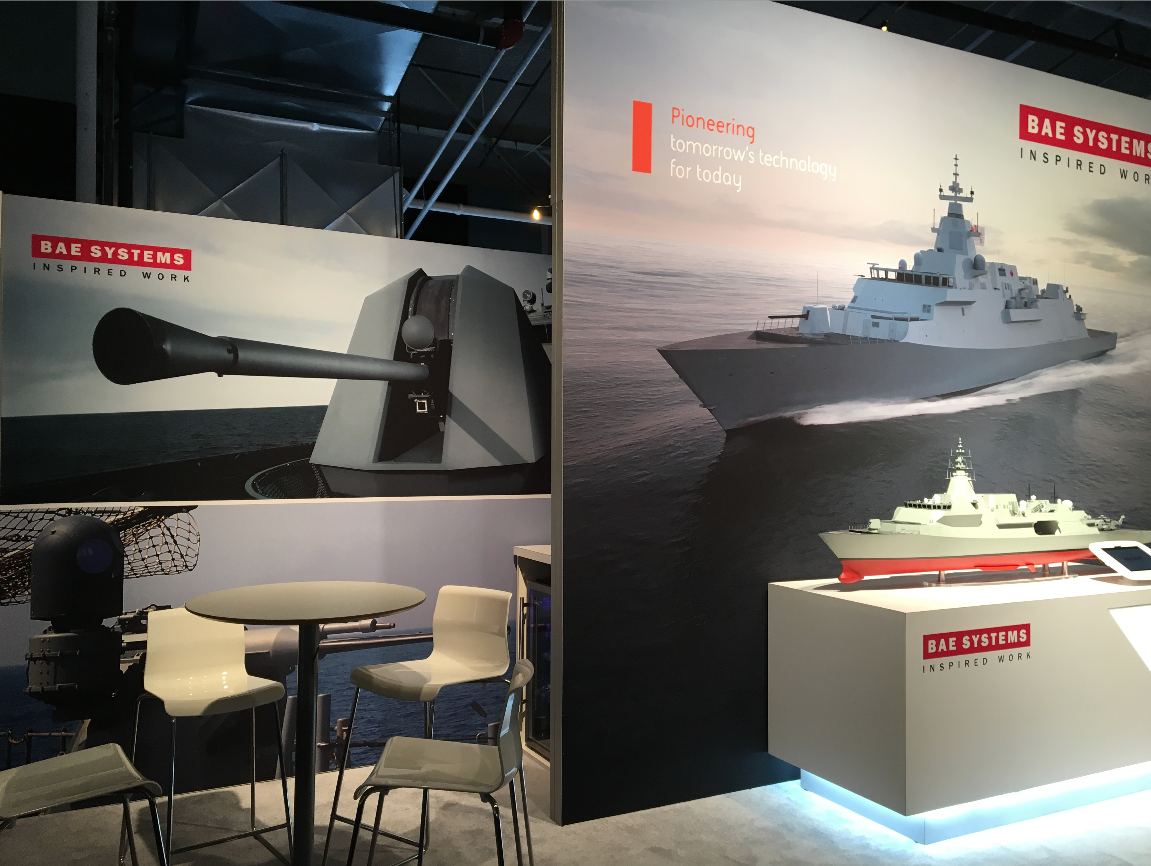 BAE Systems Booth at DEFSEC