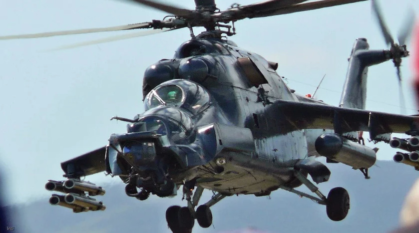 While many of Kazakhstan's military aircraft date back to the pre-1991 soviet era, they also possess state-of-the-art equipment like this mi-35 helicopter gunship