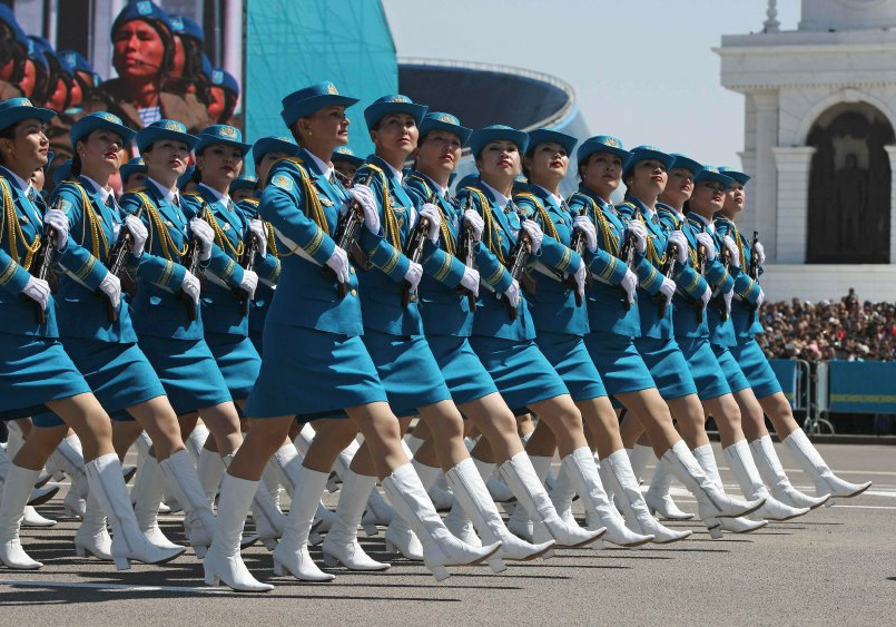 To boost the recruiting of females, the Kazakh military staged an online beauty contest wherein viewers could vote for the most attractive female soldier.
