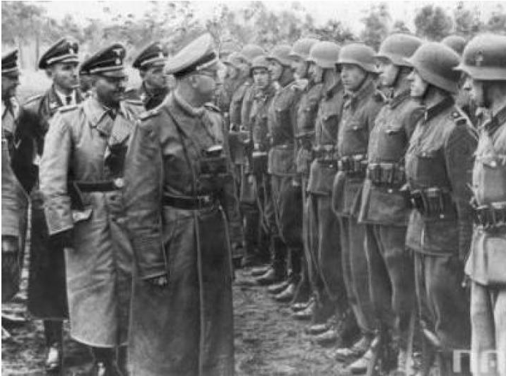 SS Leader Heinrich Himmler inspects the Galizien division 1944