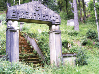 "The ""Ehrenfriedhof"": It was estimated that 30,000 French soldiers died fighting the Germans on Hartmannswillerkopf's 3,100-foot slopes, which offered a strategic vantagepoint of the Rhine and of the mountain ranges of the Harz and Black Forest. Near the cemetery, located north of Vieil Armand, is a small monument that commemorates Halifax bomber MZ-807. The aircraft, which had just completed a bombing run with its seven-member crew, was hit by German flak and attempted an emergency landing in December 1944. Only one survived."