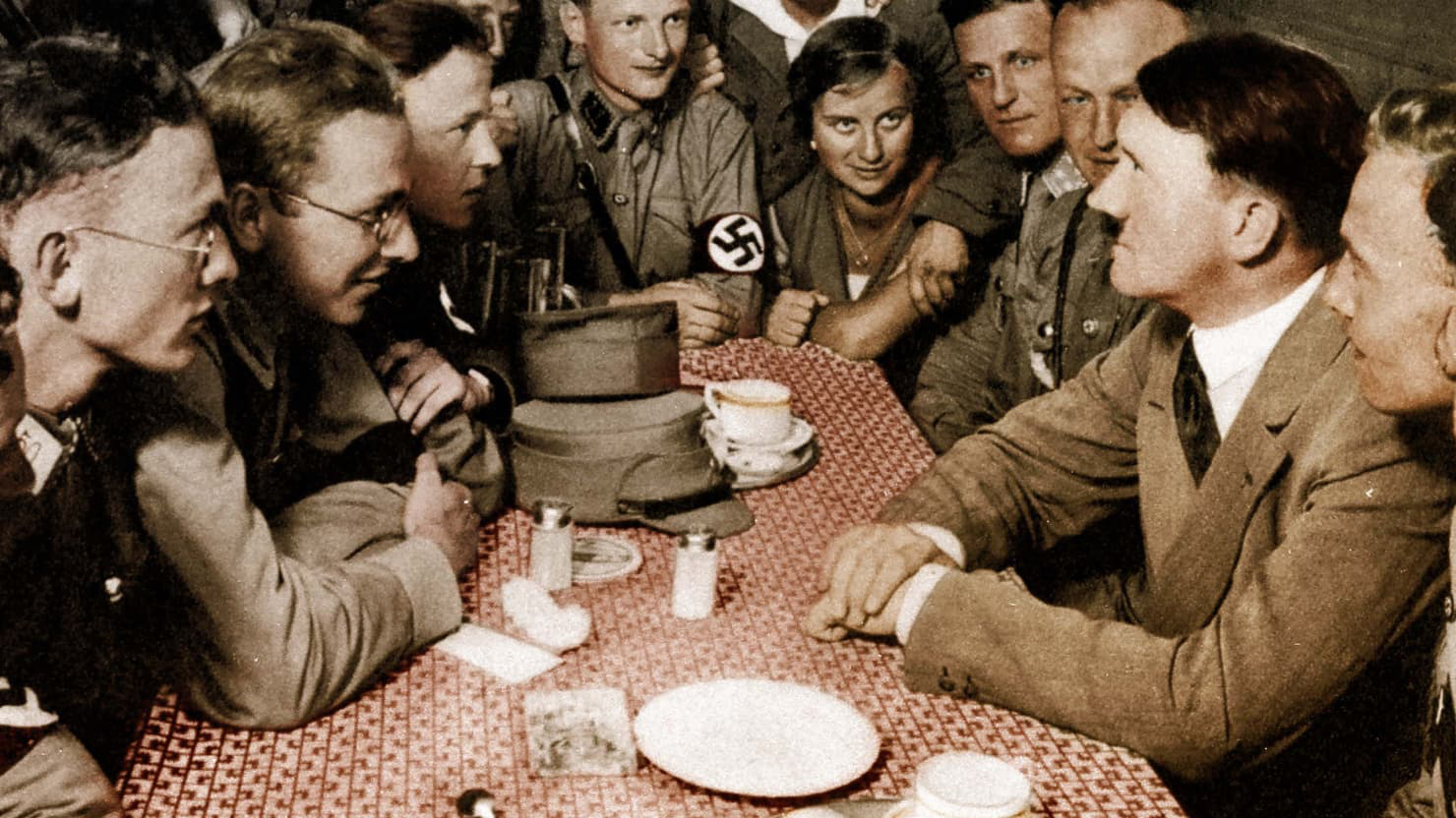 "What makes a good leader? People have committed atrocities by ""buying"" what a charismatic leader sells them. Stogran posits: Had Adolf Hitler won the Second World War, would we be celebrating his despotic regime as an example of good leadership? (roger viollet collection)"