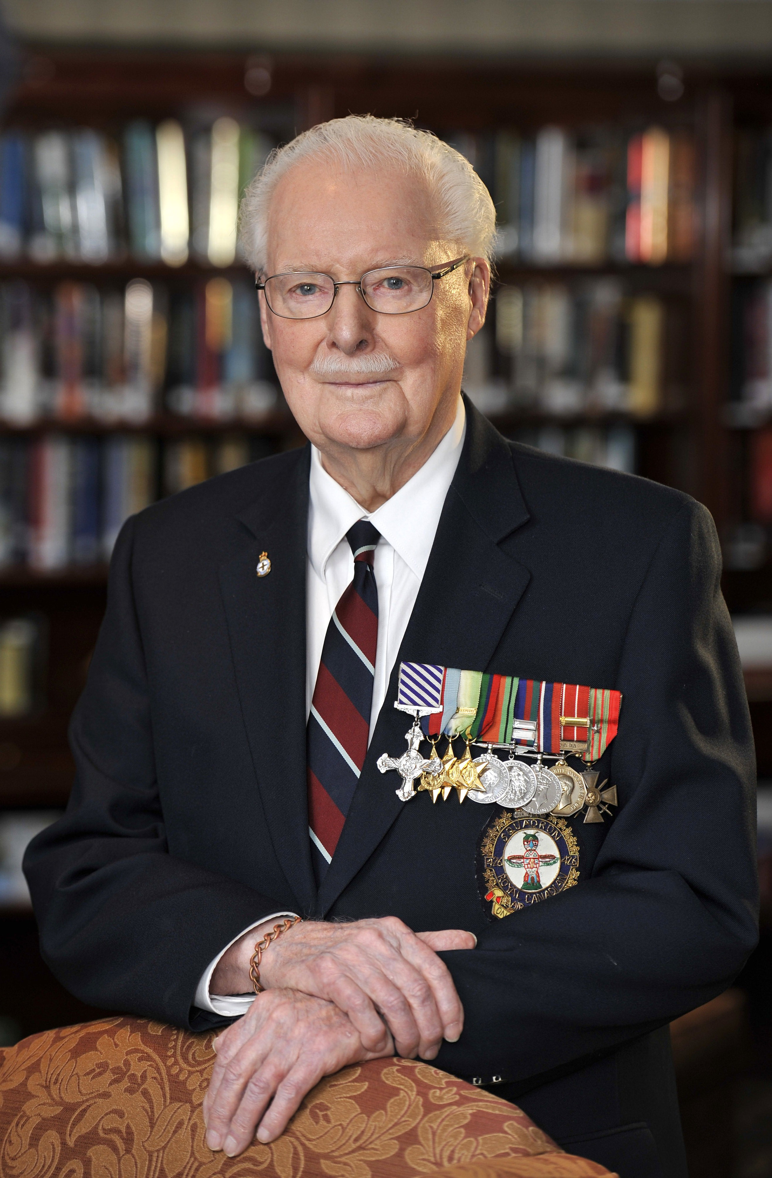 "Clifford Murray ""Blackie"" Black served as a Lancaster pilot with the RCAF's No. 419 Squadron overseas, earning the Distinguished Flying Cross and the French Croix de Guerre avec étoile de Vermeil (Silver Star) for his service. He retired from the RCAF in 1968. Black died at the age of 99 on April 1, 2016. While in hospital, Cliff was again on Old Settler Mountain, telling the nursing staff of the harrowing climb and of the grizzly, which was never far from his mind. (don molyneaux)"
