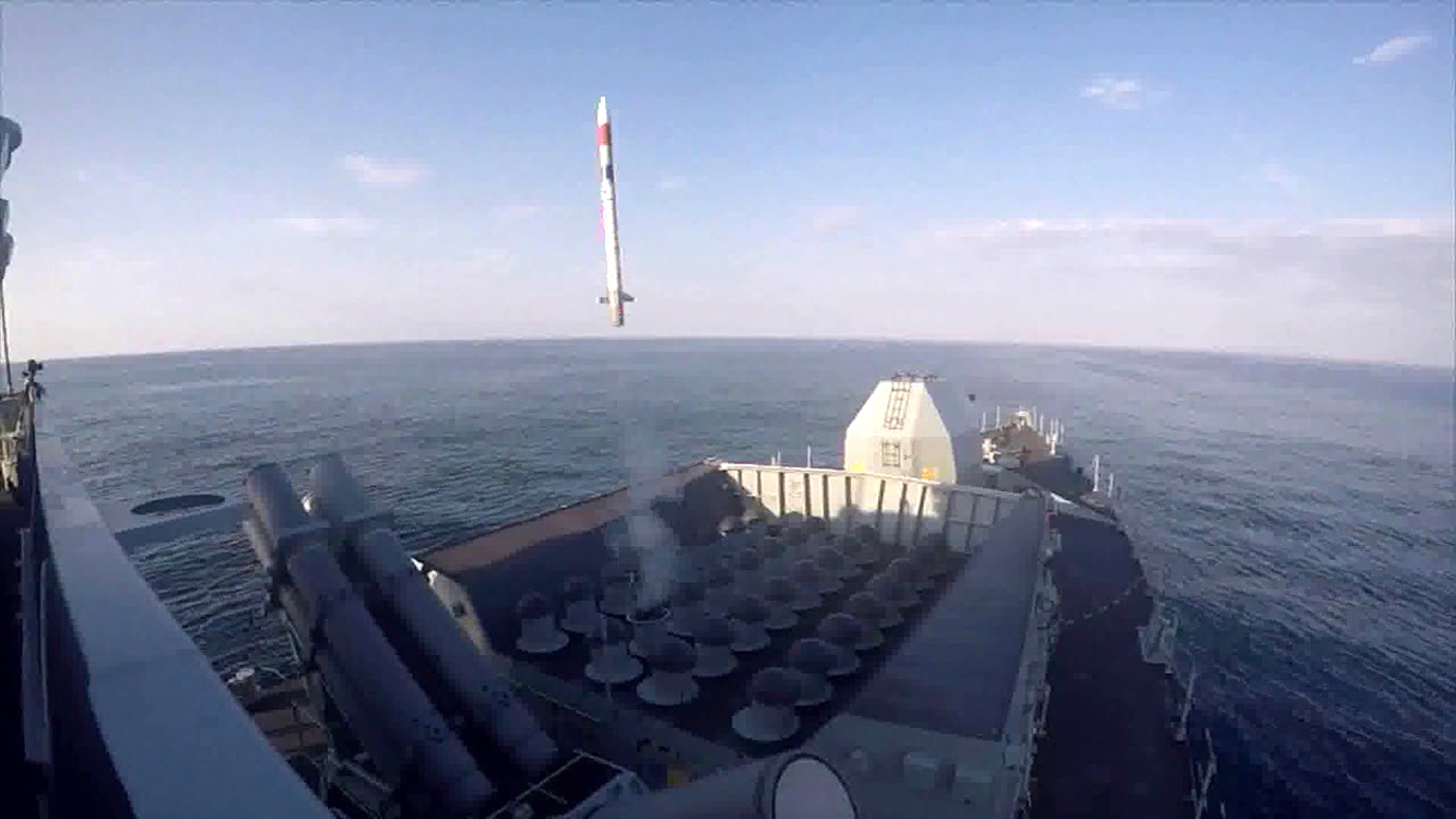 The Royal Navy successfully conducted the first test firing of the new Sea Ceptor air defence system from Type 23 frigate HMS Argyll whilst off the coast of Scotland. (mbda)