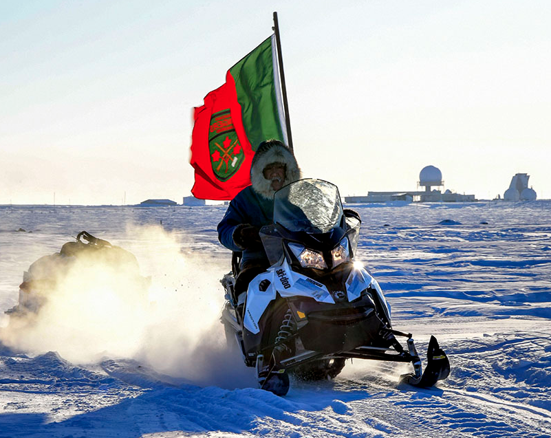 A member of 1st Canadian Ranger Patrol Group leaves base camp on patrol during Operation NUNALIVUT 17 in Hall Beach, Nunavut on March 1, 2017. Lieutenant-General Paul Wynnyk, Commander Canadian Army, has accepted the findings of a report from the Canadian Armed Forces Ombudsman on health care for Canadian Rangers. Photo: Petty Officer 2nd Class Belinda Groves, Task Force Imagery Technician. ©2017 DND/MDN Canada.