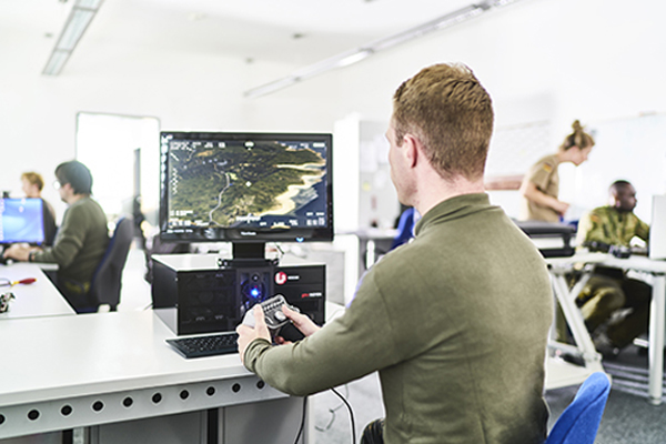 L3 WESCAM's new mission rehearsal and simulation training solutions product line uses gaming technology. (l    3     wescam)