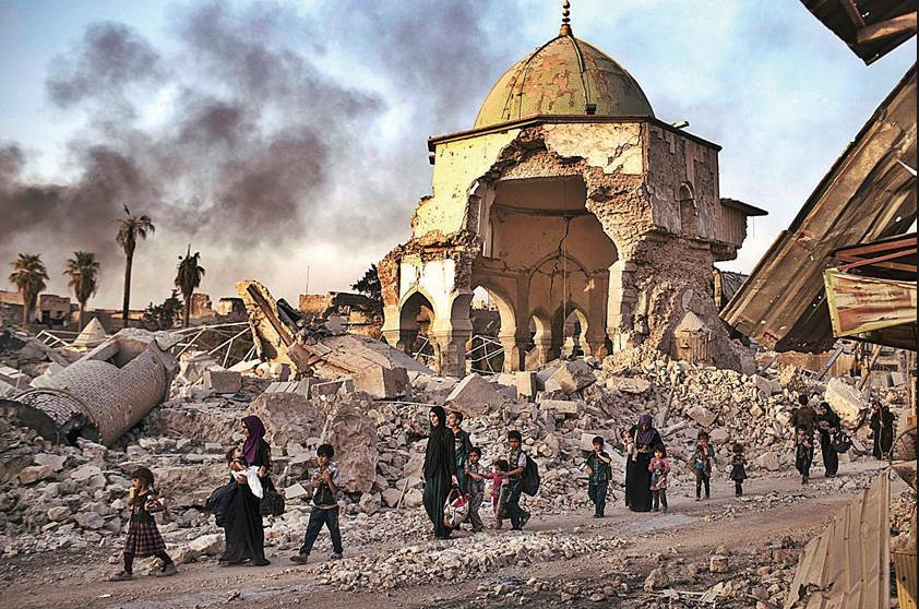 Destroyed city of Mosul