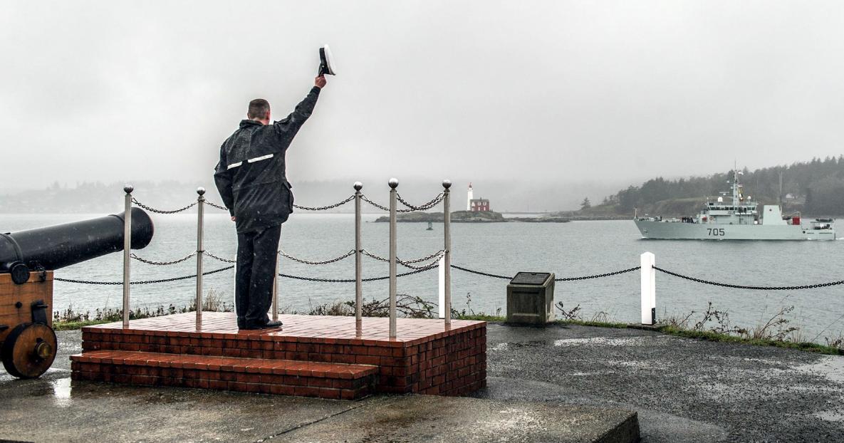 HMCS Whitehorse departs Esquimalt, B.C., for Operation Caribbe.