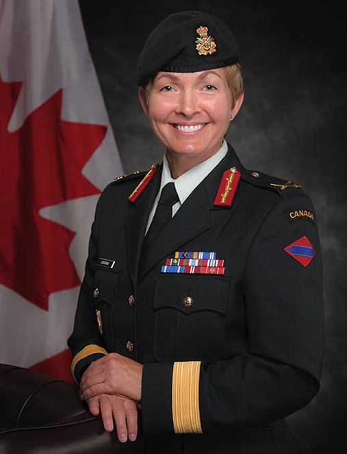 Brigadier-General M.A.J. (Jennie) Carignan, Chief of Army Operations of the Canadian Army in a formal portrait on July 18, 2016 in Ottawa, Ontario. Photo: Corporal Mélani Girard, Canadian Forces Support Unit (Ottawa). ©2016 DND/MDN Canada.