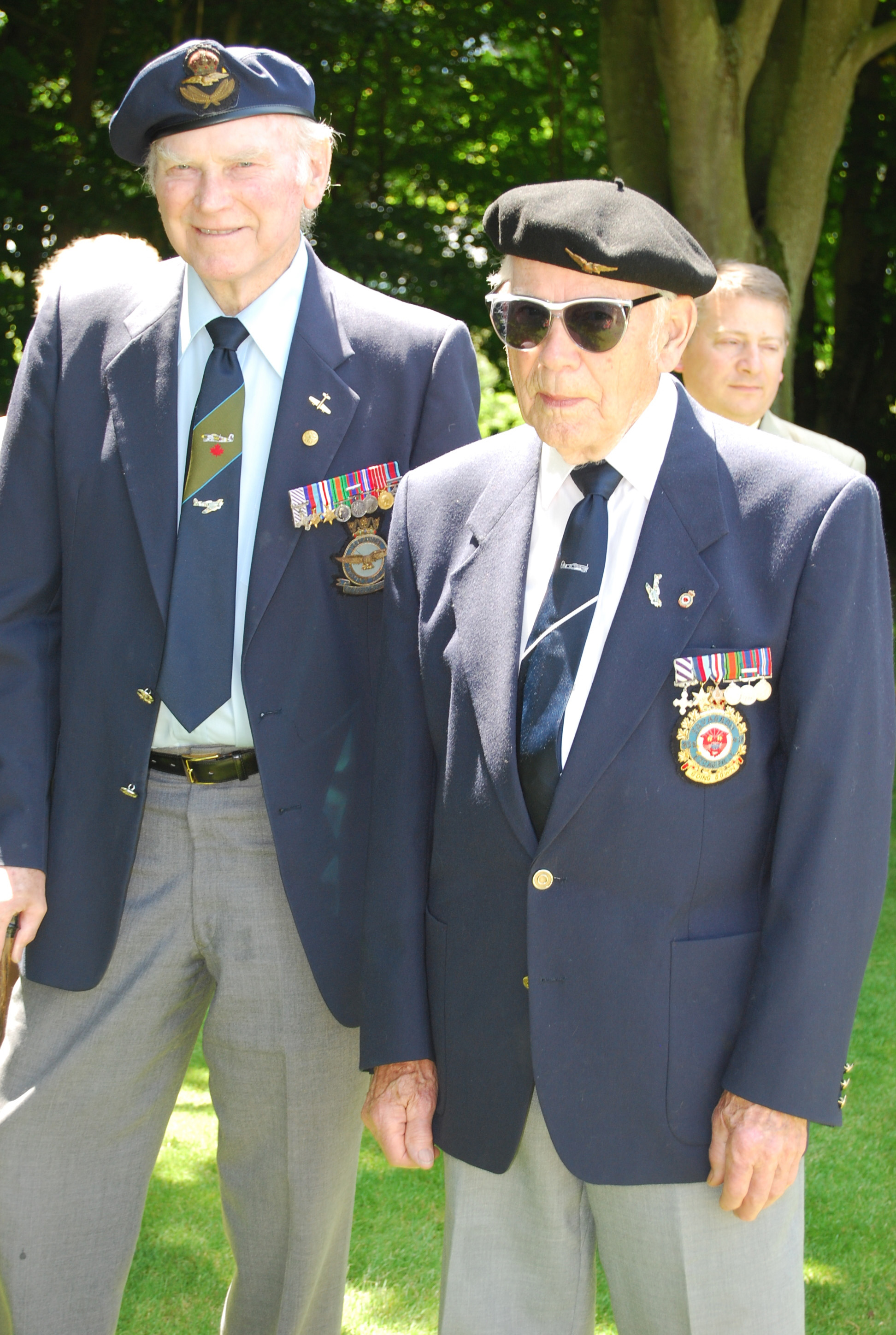 Harry Hardy (left) and Bob Spooner, two veteran Typhoon pilots, each 95 years old, travelled to Beny-sur-Mer for commemorative ceremonies marking the anniversary of Operation OVERLORD and the beginning of the Normandy campaign.