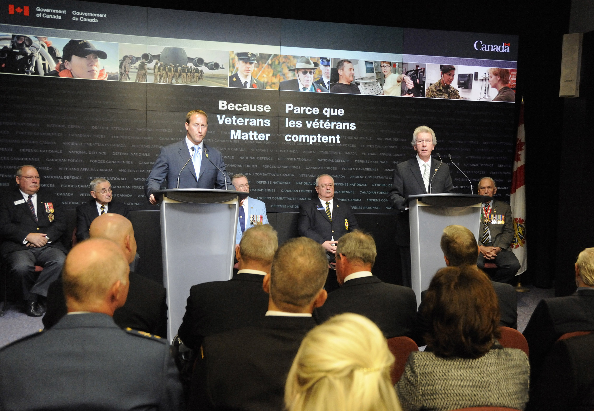 In September 2010, then MND Peter MacKay and then MVA Jean-Pierre Blackburn announced that the Government of Canada would allocate $52.5 million over five years in additional support to establish a legacy of care for seriously injured Canadian Forces personnel and their families. However, the legislative amendments to deal with shortcomings identified in the New Veterans Charter have yet to be fully ratified. (dnd)