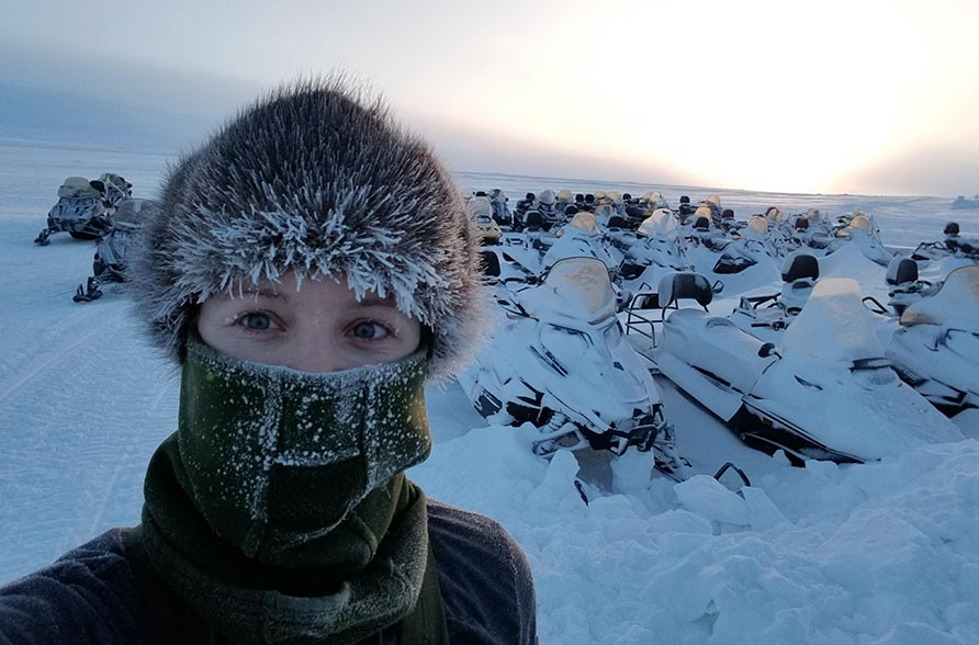 During her deployment on Operation NUNALIVUT 2018, Corporal Samantha Rohringer enjoyed waking up to spectacular sunrises, such as this one taken near Canadian Armed Forces Arctic Training Centre in Resolute, Nunavut. Photo: provided by Corporal Samantha Rohringer, Royal Winnipeg Rifles.