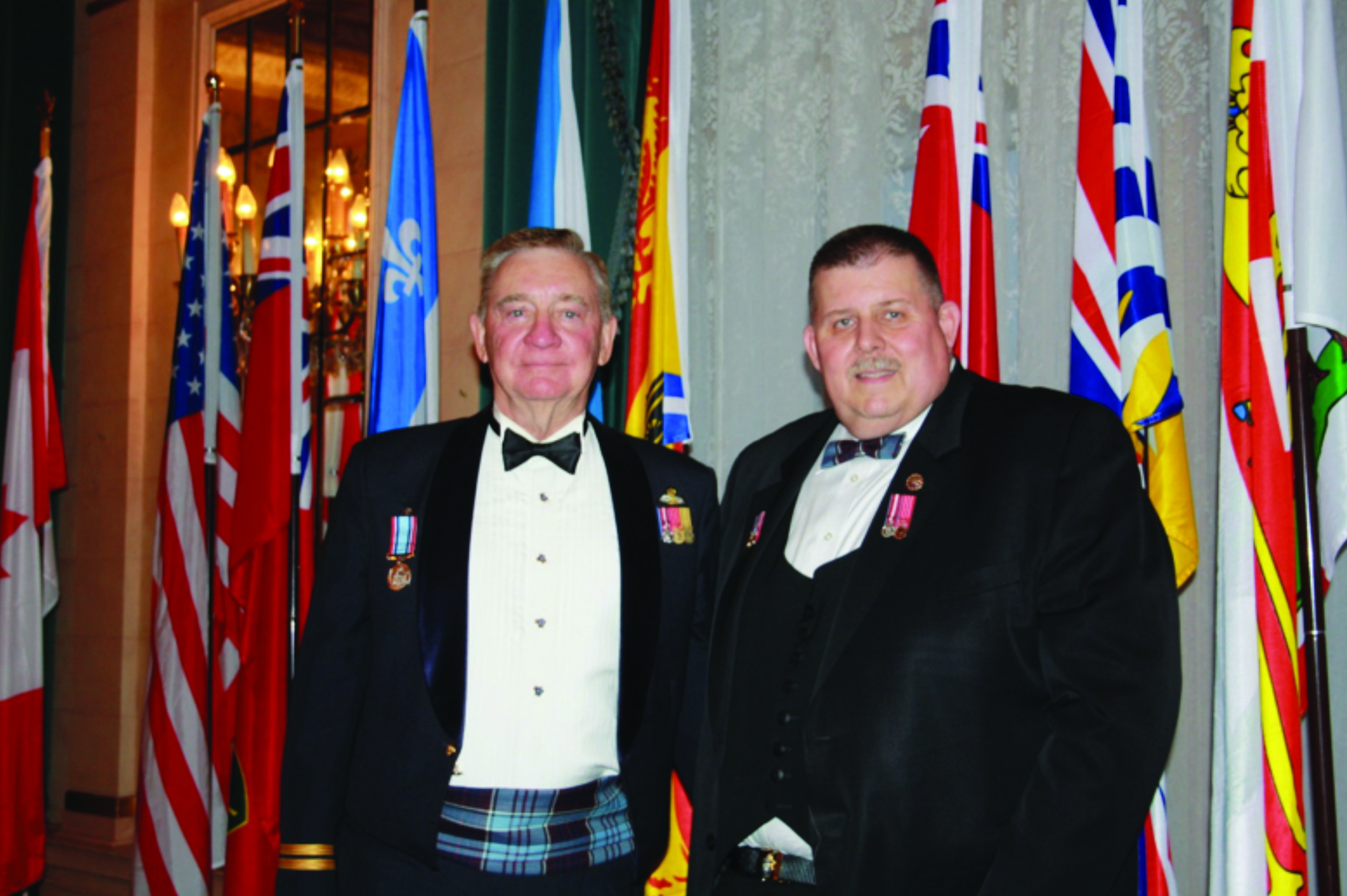 From left to right: Merv Ozirny, National First Vice-President, and Donald Berrill, National President of the Air Cadet League of Canada.