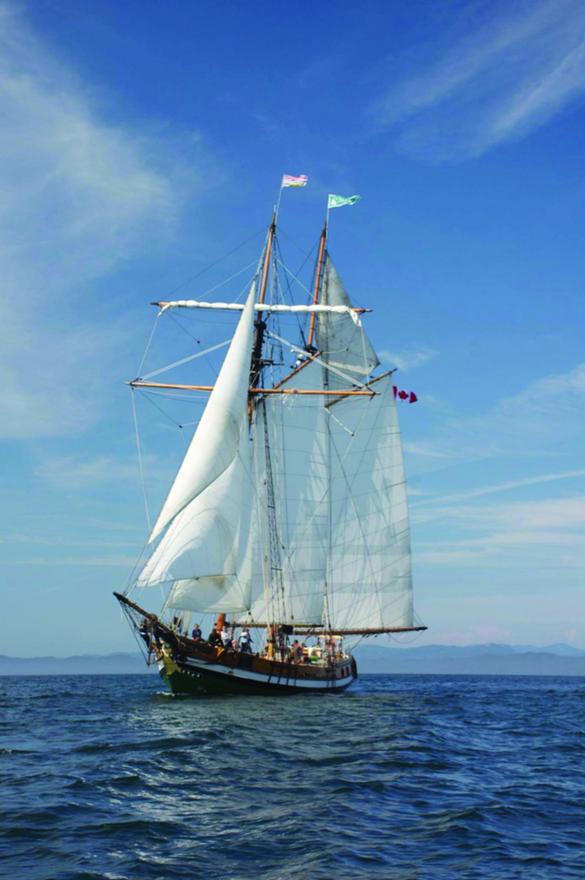 Tall Ships are large traditionally-rigged sailboats that move through the water with the thrust of the wind. It takes a high level of skill and teamwork to navigate such a ship on the high seas. (Canadian Cadet Organizations)