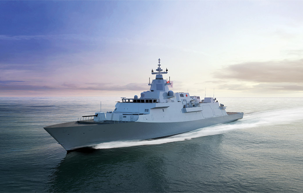 Artist's impression of a future Canadian Surface Combatant. Images courtesy of Irving Shipbuilding Inc.