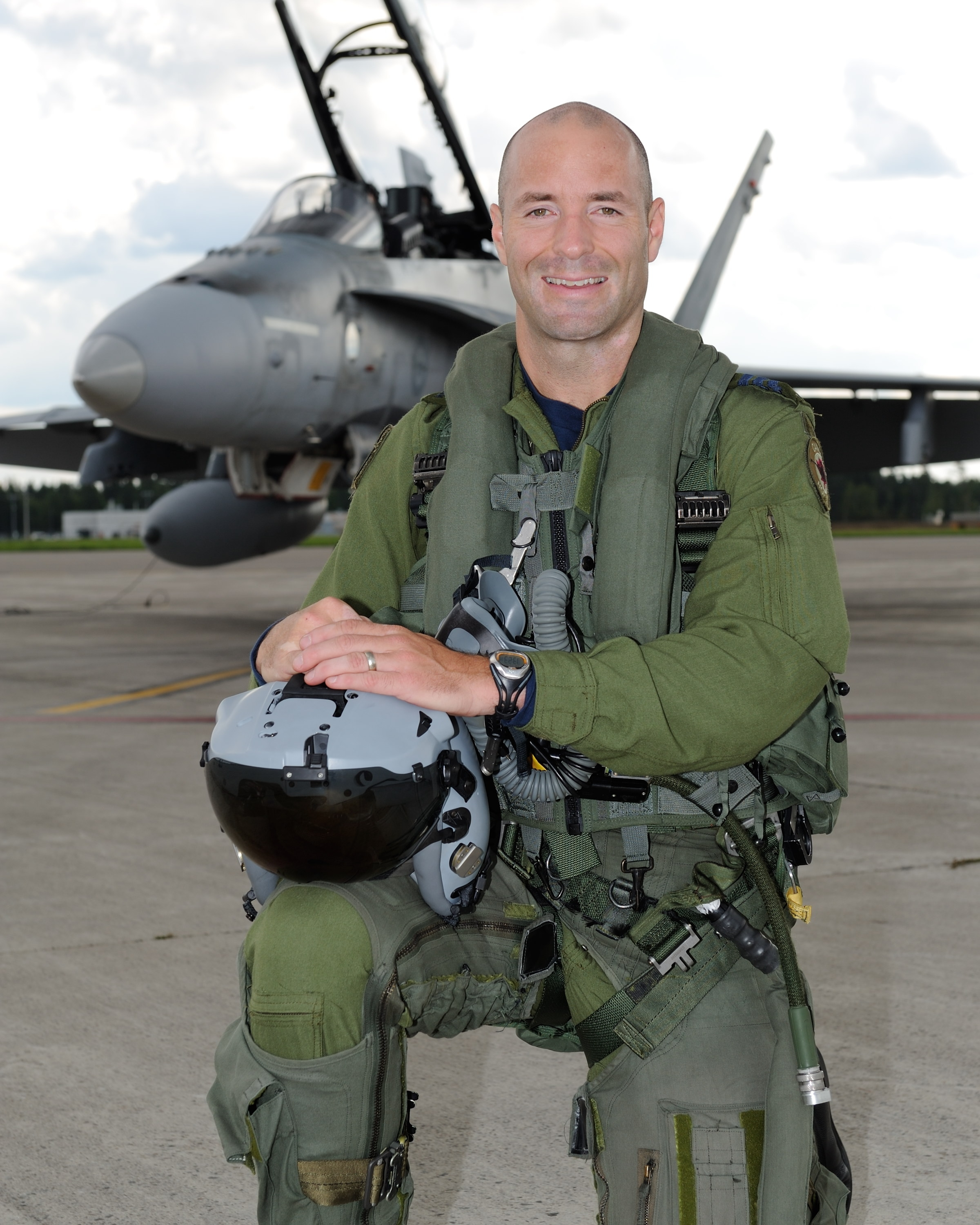 Lieutenant-Colonel Darcy Molstad, from 425 Tactical Fighter Squadron, 3 Wing Bagotville, Quebec. Lieutenant-Colonel Molstad's hometown is Edmonton, Alberta. PHOTO: DND