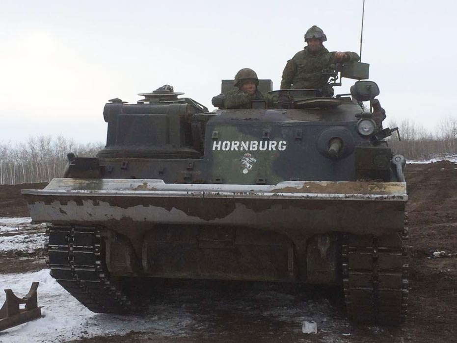 This retired Taurus Armoured Recovery Vehicle, named in honour of Corporal Nathan Hornburg, serves as a 'living memorial' to the young soldier and is on display at the Military Museums in Calgary. Photo: Provided by Lord Strathcona's Horse (Royal Canadians) Society.