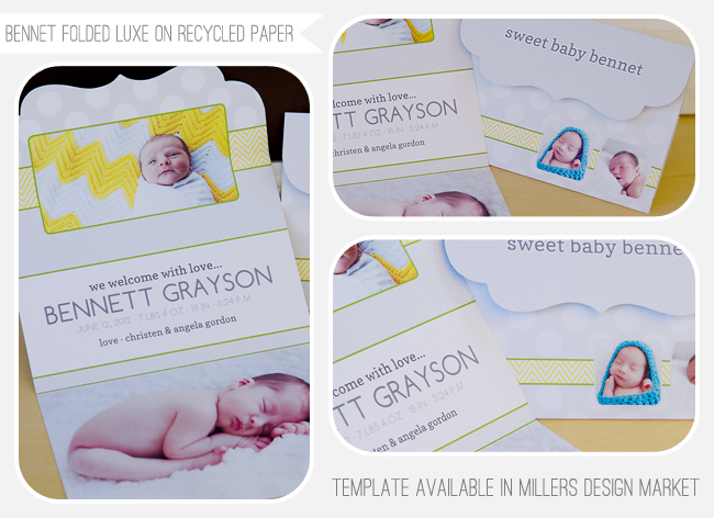 Baby folded luxe card for millers lab