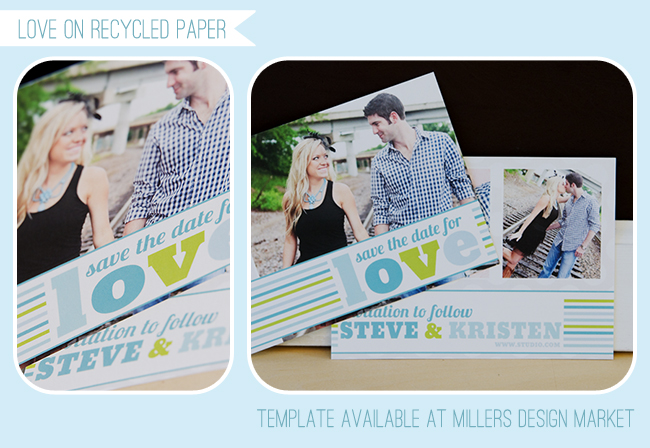Millers lab flat save the date template