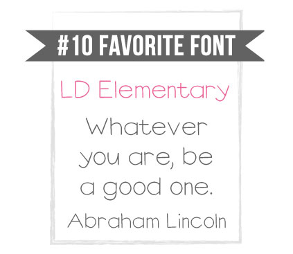 LD Elementary handwriting font