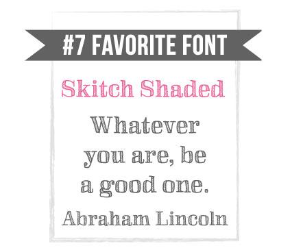 Skitch Shaded Fun Font