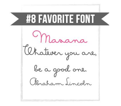 Masana fun handwriting font