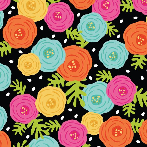 365 Patterns - Bold Ranunculus