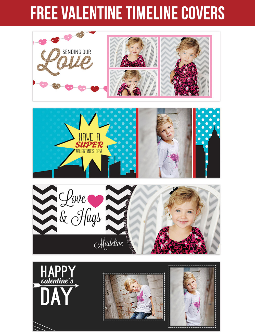 FREE Valentine timeline covers, so CUTE!!!