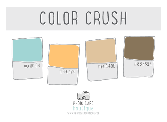 Robin egg blue, yellow and buck wheat tan color palette.