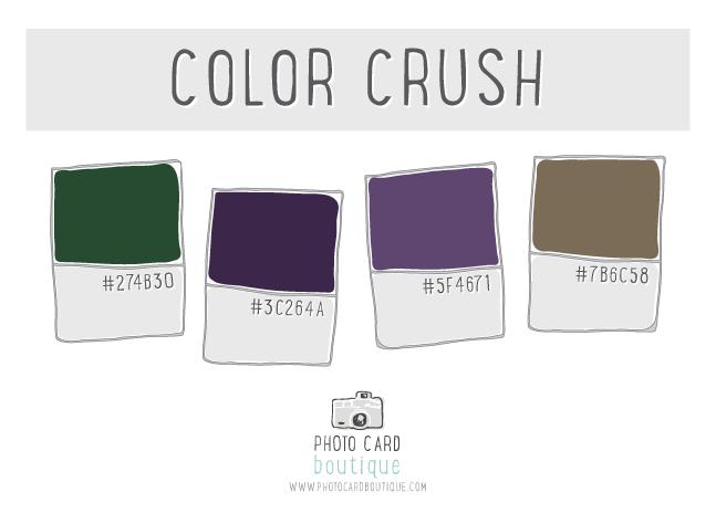 Green, plum and khaki color palette