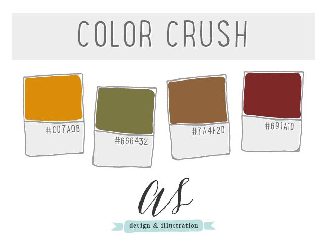 Fall color palette.