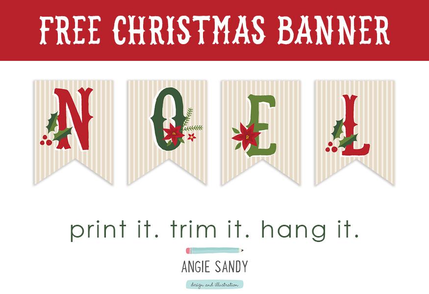 Free Christmas bunting printable