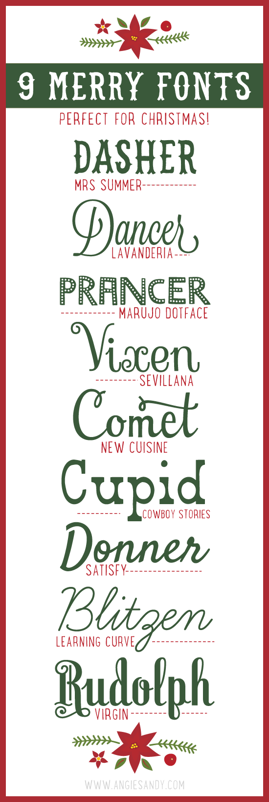 9 Merry Fonts for Christmas