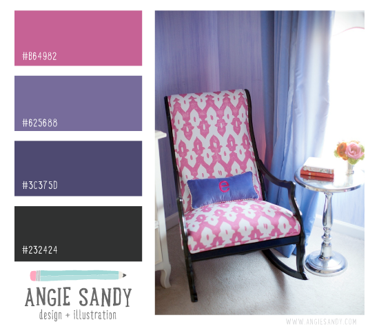 Color Crush 3.19.2014 | Angie Sandy Design #orchid #colorpalette