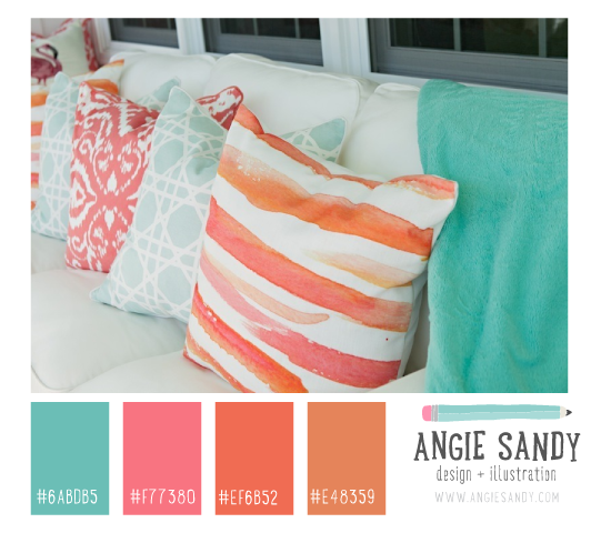 Beach Chic Color Palette | Angie Sandy #colorpalette