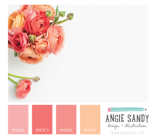 Color Crush 5.1.2014 - Angie Sandy #colorpalette #blushpink #peach