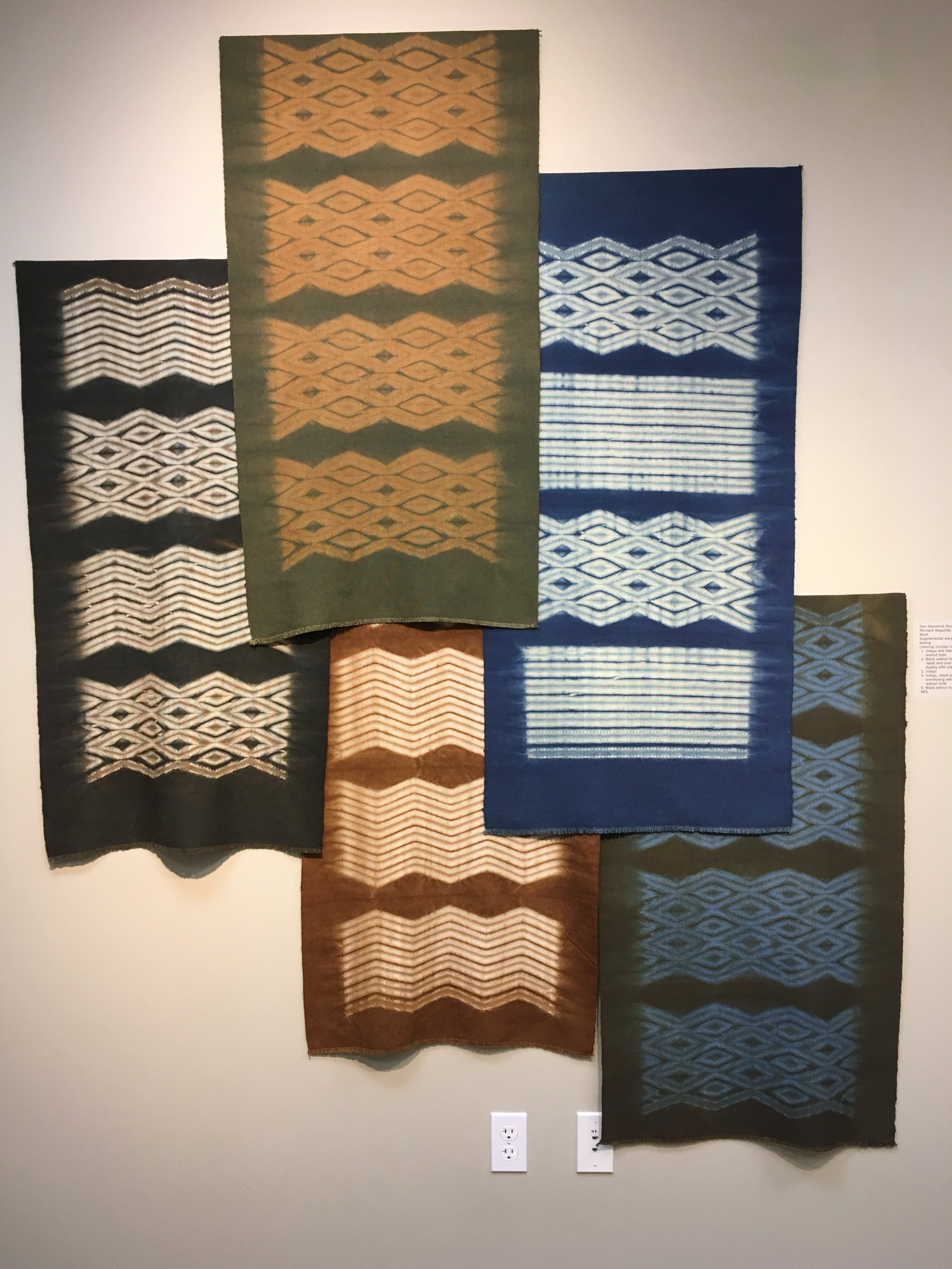 beautiful natural dyed woven shibori pieces by the amazing Catharine Ellis
