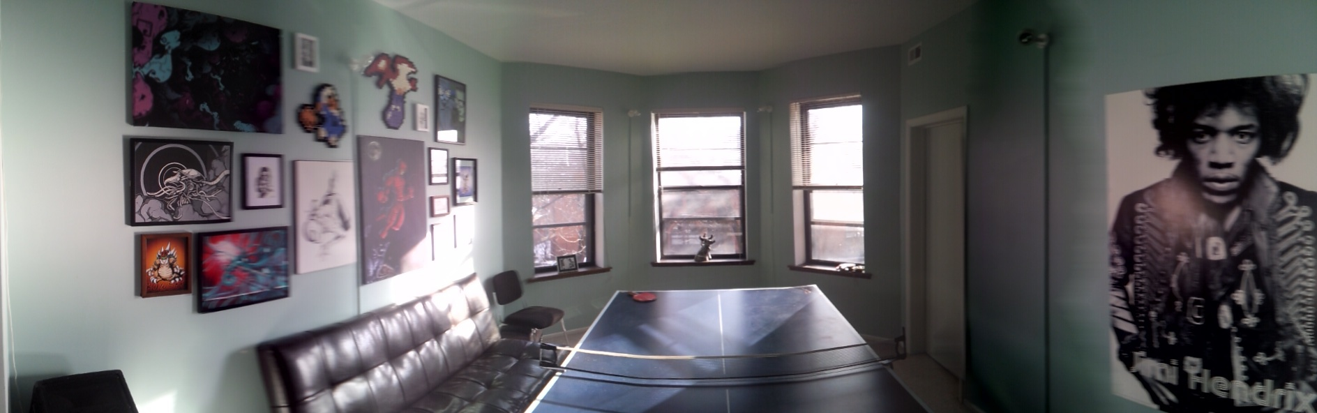 ...the ping pong room...