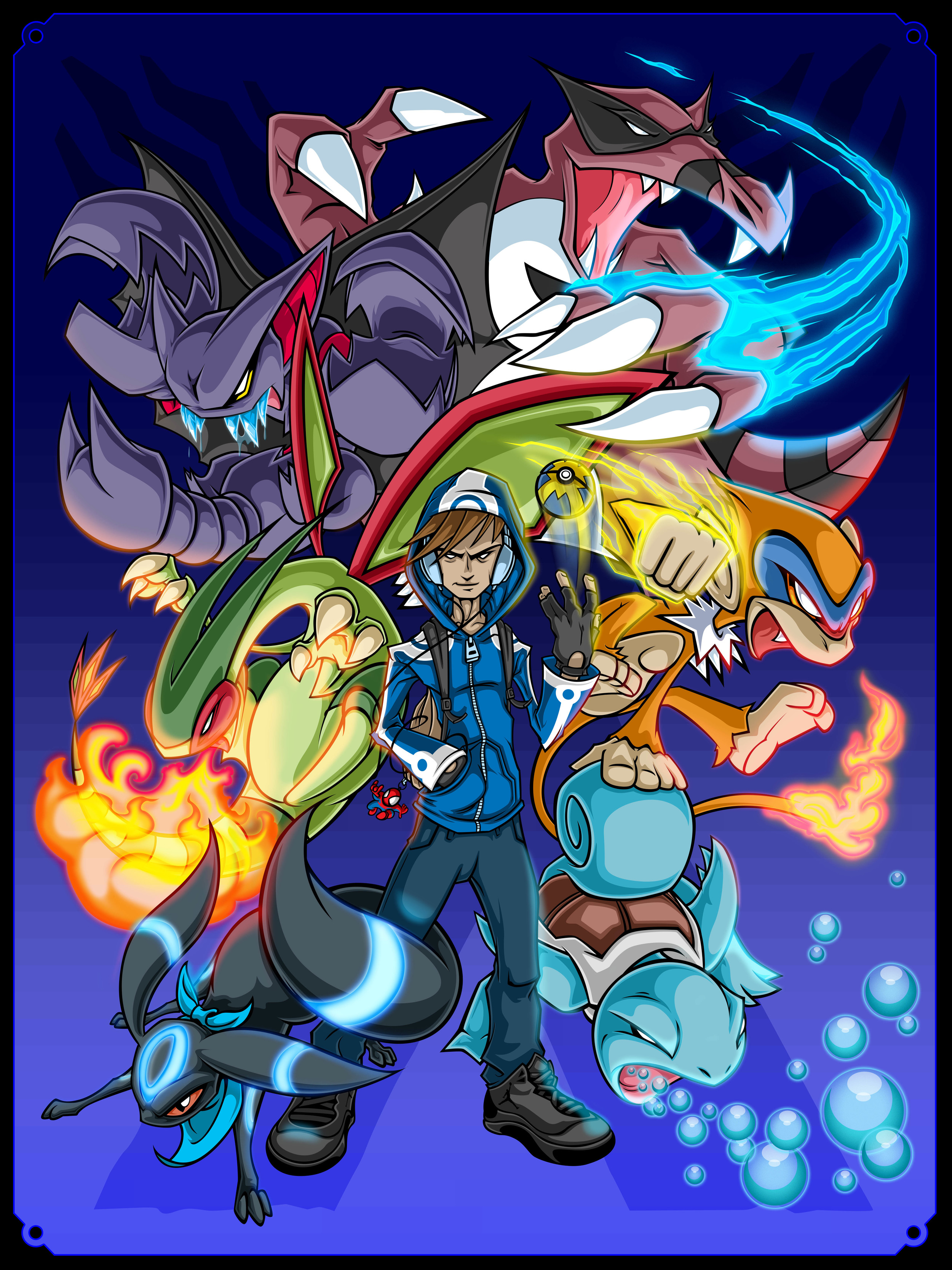 ...pokemon trainer and team commission...